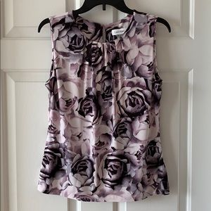 Pink and purple Calvin Klein blouse